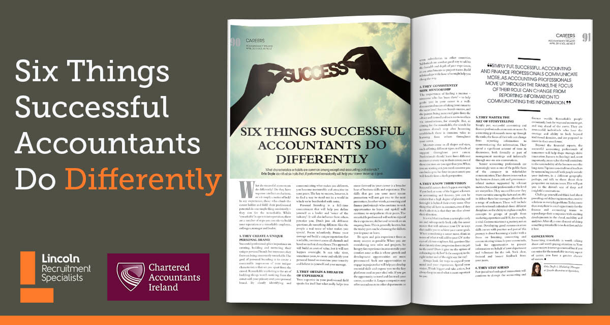 Six Things Successful Accountants Do Differently